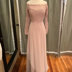 """Theia """"Isabel"""" in Dusty Rose size 8"""